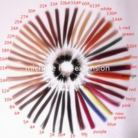 Wholesale virgin human hair color ring color card color chart