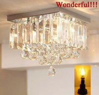 art design projects - Chandelier Crystal K9 Free LED Thick base Simple Reliable Quality Square Design Penthouse Villa Living Room Hotel Project Lights