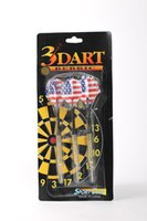 Wholesale Electroplate Copper Steel Needle Tip Dart Darts set Blister Card packing