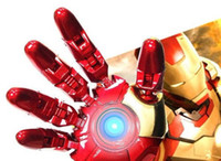 avengers usb sticks - Avengers LED IRON MAN Hand Model GB GB GB USB flash Memory Pen Drive Stick Retail Packaging free dropshipping