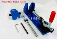 Wholesale Woodworking Tool Pocket Hole Jig Woodwork Guide Repair Carpenter Kit System With Toggle Clamp and Step Drilling Bit Kreg Type