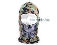 Wholesale Military Tactical Anti Pollution Sport Mask Windproof Skull Full Face Mask Airsoft Hunting Polyester Cool Protect Mask Free Ship order lt no