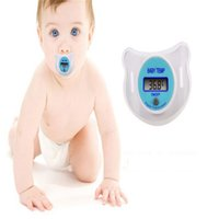 Wholesale Digital Babay Thermomenters Electronic thermometer LCD temperature display appease nipple count electronic thermometers and retai