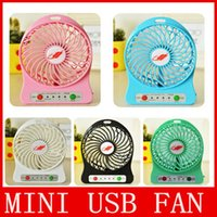 Wholesale Mini Protable Fan Multifunctional USB Rechargerable Kids Table Fan LED Light Battery Adjustable Speed F95B Multi Color top quality