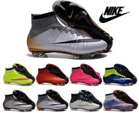 Wholesale Nike Mercurial Superfly FG Soccer Shoes Boots kid women boy High Top CR7 Cleats Laser Football Sneakers Eur Size