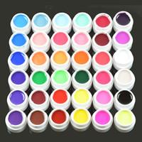 Wholesale Professional Pots Pure Colors Nail Art Decor UV Gel