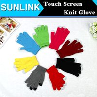 Wholesale Autumn Touch Screen Winter Gloves Warmer Gloves Knit Wool Touch Gloves for iPhone Touch Screen Gloves for Mobile Phone Christmas Gift New