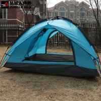 camping tent - new snap open double rain tent camping tents couple camping tent T222 windproof