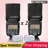 Cheap 2pcs YONGNUO YN-565EX II GN58 TTL Flash Speedlite for Canon 6D 7D 5D Mark II, 5D Mark III, 70D 60D