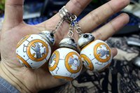 Wholesale 10pcs set Star Wars cm The Force Awakens BB8 BB Droid Robot Action Figure Collection toys for christmas gift