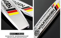 Wholesale Volkswagen Germany flag auto metal leaf plate logos VW car sticker car badges car accessories New soar team baolai lavida passat magotan