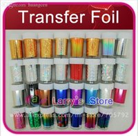 aluminum foil art - New Mix Rolls Color Styles Available Nail Art Transfer Foils Sticker Adhesive Acrylic Gel Tips Decoration Aluminum Bottle
