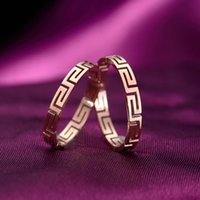 ancient china wall - hollow out the Great Wall style restoring ancient ways ring queen palace maze grain ring stainless steel love ring titanium for women