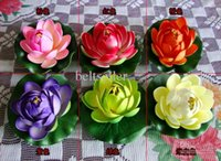 beautiful christmas ornaments - 10 CM Diameter Artificial Lotus Flower Floating Water plants Beautiful Lotus flower For Christmas Ornament Wedding Party Decoration Supplies