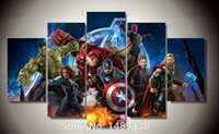 animations wall painting - Framed Printed Avengers Animation piece picture Painting wall art room decor print poster picture canvas F