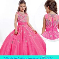 short pageant dresses for girls - 2015 Toddler Beauty Pageant Dresses For Girls Floor Length Pageant Dresses For Teens Size Girls Interview Dresses