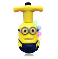 Wholesale New Style Despicable Me Spinning Top Toy Classic Toys Gypro MusicColorful Light Peg Top