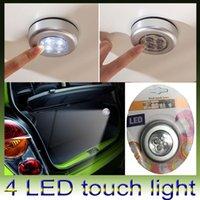 Precio de Armarios niños-Mini 4 luces LED Touch lámpara baterías Powered Touch Stick en luz de la noche para la tienda de coches Bike Wardrobe Portable Light para niños