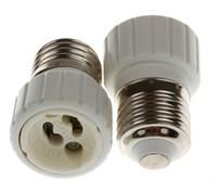 Wholesale 2015 CE RoHS New Light Lamp Bulb Adapter Converter LED E27 To GU10 Socket Holder Light Bulb Lamp socket for GU10 white body