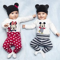 baby clothes body - Toddler newborn baby romper pieces clothing sets cotton one piece long sleeve hat body pant