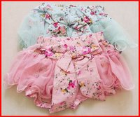 Casual Pants baby bubble shorts - 2016 Summer Korean Baby Girls Toddlers Kids Floral Big Butterfly Bow knot Lace Gauze Bubble Skirt Kids Tutu Shorts Elastic Short Pants T