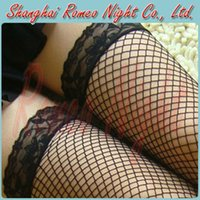 Wholesale Ultrathin Sexy Fishnet Mesh Stocking with Lace Women Sexy Lingerie Stockings Erotic Suit