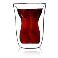 Wholesale Hot Sale Bodum ml Beauty double insulation Cup Body Shape Couple Cups Mug Vodka Shot Wine Glassware Gift