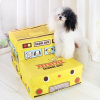 Wholesale Petstyle school bus car folding stairs to accommodate dog prodcuts two layer pet stairs factory outlets