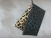 Cheap Wholesale-Independent original design leopard print general casual clutch pencil case male or female fashion handbag free shipping