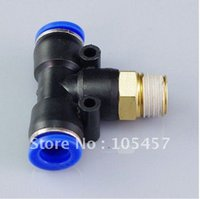 Wholesale 20pcs mm BSPT Threaded Male Tee Pneumatic Connector directly from manufacturer order lt no track