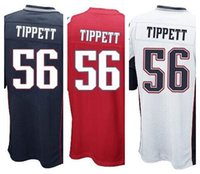 andre tippett white jersey - Factory Outlet New Andre Tippett youth Elite Football Jersey stitched Kids Tippett Retired size S XL navy blue red white Chirld jers