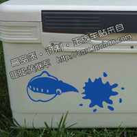 Wholesale Fishing Stickers pc cm Colors Car Sticker Reflective Tape Waterproof Decals For Rear Windshield Fishing Box
