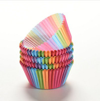 Wholesale 100pcs Mini prevent oil Paper Cake Cup Liners high temperature Baking Cup Muffin Kitchen Cupcake rainbow colors