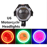 Wholesale 125W lm Upper Low Beam Flash Waterproof CREE U6 LED Motorcycle Bike Driving Head Light Spot Fog Lamp Headlights