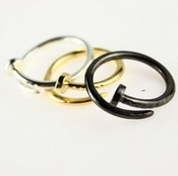 With Side Stones Celtic Women's 2015 New Nail Knuckle Ring 18K Gold Silver Black Forever Love Cute Open Rings for Women Ladies US 6.5