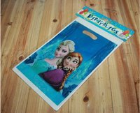 anna tote - 2015 HOT Frozen Princess Gift wrapping Bag Party Supplies Anna Elsa Tote Bag Birthday Party Candy Bag Paper Gift Bag Handbag BBC470