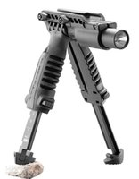 flashlight in torch light - Tactical MAKO FAB Defense T POD in Foregrip Bipod picattinny rail with torch mount Flashlight Light Holder Laser for mm Rifle