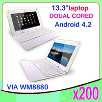 Wholesale DHL Hot Mini Laptop inch VIA WM8880 Dual core bluetooth HDMI netbook ZY BJ
