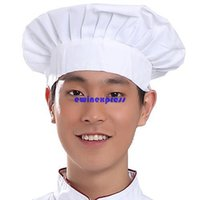 bakers chef - 100pcs top quality Adult White Chefs Bakers Cooking Hat cap Party Kitchen Fancy Dress Costume Accessory