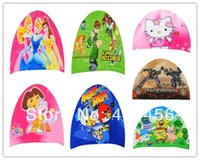 swimming cap - price Hot sale fashion kids swimming cap boy and girls swimming hat cartoon design