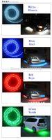Wholesale 24cm LED Car Angel Eyes Light Strip Waterproof LED Car Motorbike Wheel Tires Decoration Lights Stripes Lumiere led luz de coche
