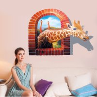 Cheap New Fashion 3D wall stickers Map cartoon animal kindergarten classroom school children room decorate wall stickers
