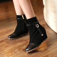 Wholesale Woman Boots Genuine Leather Boots Stealthy High Heel Boots Cow leather Frosted boots Manufacturer Lady Boots