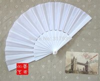 Wholesale I AM YOUR FANS white silk hand fan plastic wedding fan Assorted colors is welcome to AU
