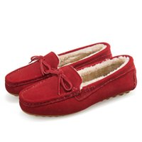 Wholesale Warm winter padded shoes with tassels Peas shoes flat shoes for pregnant women plus velvet matte leather