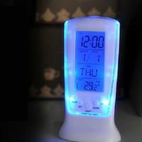 Wholesale Digital Luminous LED Alarm Clock Backlight Snooze Desktop Table Children Bedside Despertador Desk Clock