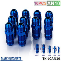 Wholesale Tansky High Quality AN AN10 AN MALE THREAD STRAIGHT BULKHEAD FLARE BLUE ALUMINUM ANODIZE FITTING TK JCAN10