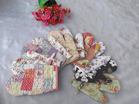 Wholesale Cotton Plaid Thick Oven Mitts gloves in kitchen for Microwave Shabby Chic Floral pc Cool Tool