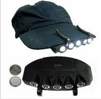adventure battery - New LED ClipCap Headlight Under Hat Mini White Night Fishing Outdoor Camping Adventure Plastic Headlight At Night With Battery A