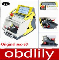 Wholesale 2015 Best automatic key cutting machine SEC E9 portable smart duplicate car key cutting machine SEC E9 Multi Language version